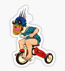 Demonic Trike Rider Sticker