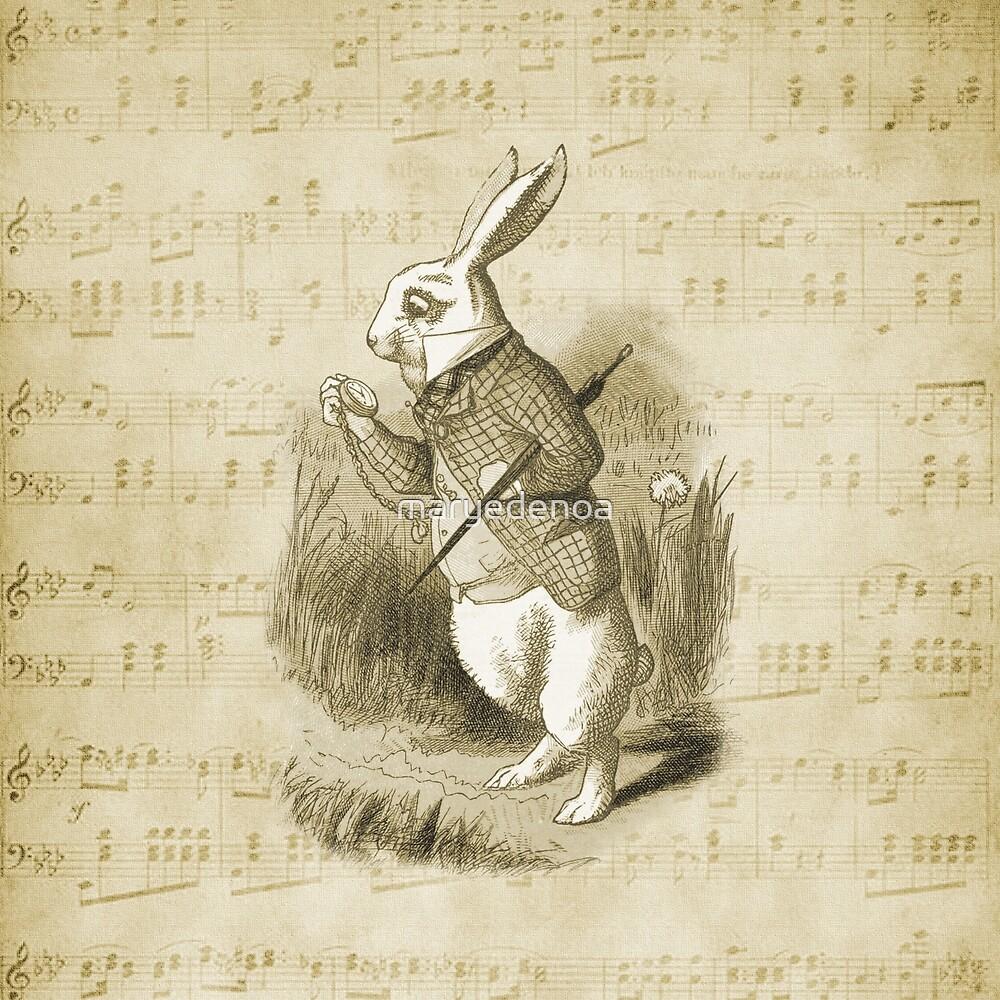 «Conejo blanco - Alicia en el país de las maravillas» de maryedenoa