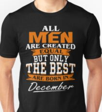 Men the best are born in December Slim Fit T-Shirt