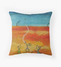 Massive Dance of the Desert Wild Women Throw Pillow