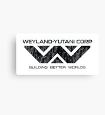 Weyland Yutani - Distressed Black Logo Canvas Print