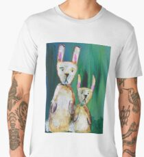 Bunnies at the Aurora Men's Premium T-Shirt