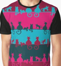 Bright Cats Graphic T-Shirt