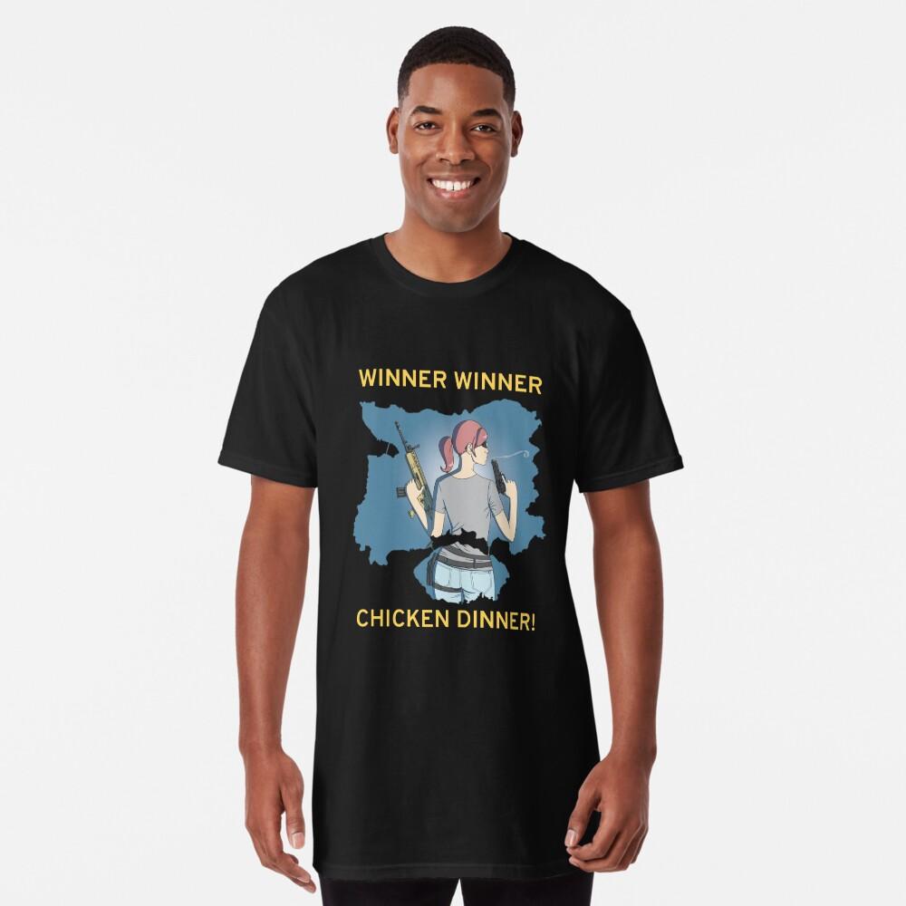 Winner Winner Chicken Dinner! Playerunknown's Battlegrounds PUBG Long T-Shirt Front