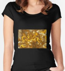 Golden marble Women's Fitted Scoop T-Shirt