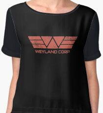 Weyland Corp - Distressed Red Women's Chiffon Top
