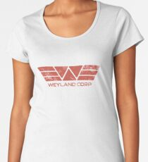 Weyland Corp - Distressed Red Women's Premium T-Shirt