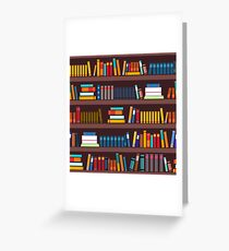 Book pattern Greeting Card