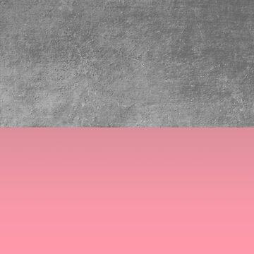 Concrete and Blush Pink Color Block Graphic  by modoki