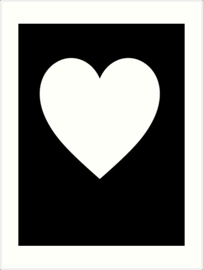 Láminas Artísticas Corazón Blanco Corazón De Amor Puro Y Simple