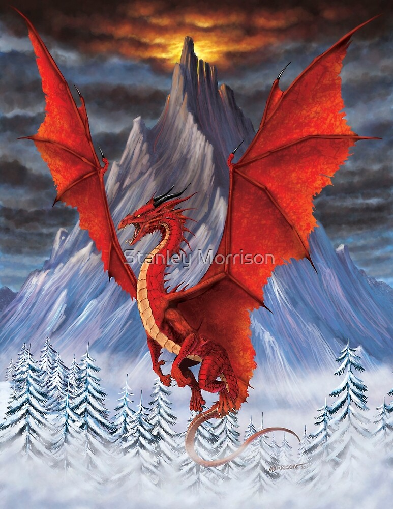 EVIL RED DRAGON by Stanley Morrison