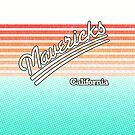 Mavericks, California | Surf Stripes by retroready