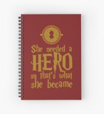 She Needed a Hero (Wise Witch Version) Spiral Notebook