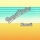 Banzai Pipeline, Hawaii | Surf Stripes by retroready