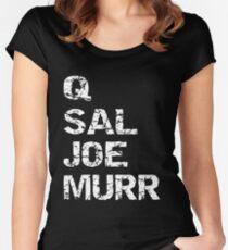 Impractical Jokers | Q & Sal & Joe & Murr Women's Fitted Scoop T-Shirt