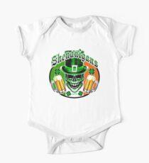 Funny Irish Leprechaun Skull One Piece - Short Sleeve