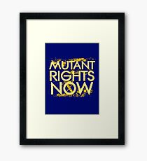 Mutant Rights Now Framed Print