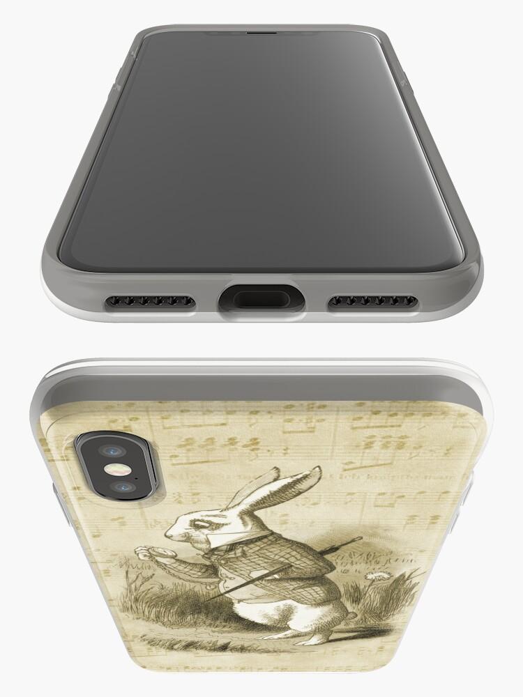 Vista alternativa de Funda y vinilo para iPhone Conejo blanco - Alicia en el país de las maravillas