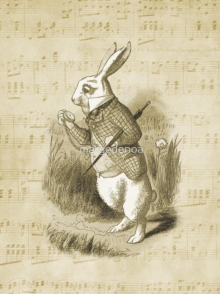 Conejo blanco - Alicia en el país de las maravillas de maryedenoa
