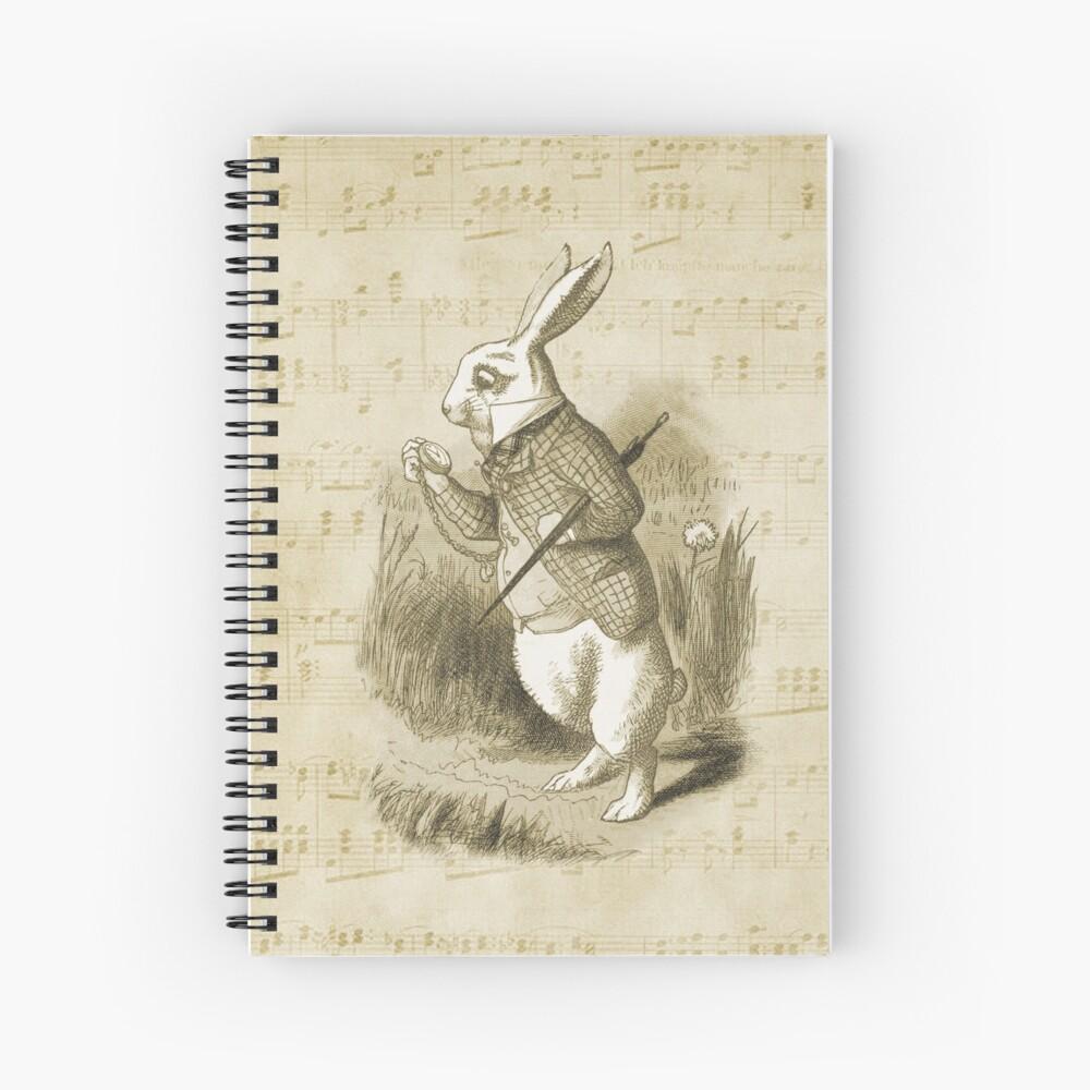 Conejo blanco - Alicia en el país de las maravillas Cuaderno de espiral