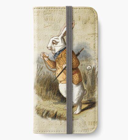 Conejo blanco - Alicia en el país de las maravillas Funda tarjetero para iPhone