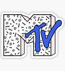 MTV Logo (Black Confetti) Sticker