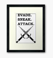 EVADE SNEAK ATTACK ROGUE 5E RPG Class Framed Print