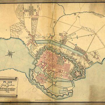 Map of Copenhagen, 1779 by MUZA9