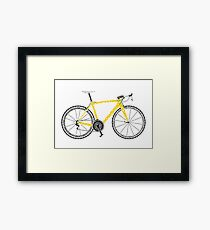 Typographic Anatomy of a Tour de France Bike Framed Print