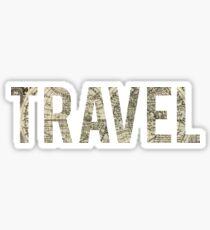 travel map b&w Sticker