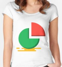 Pie chart Women's Fitted Scoop T-Shirt