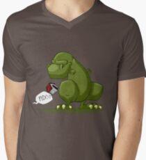 Dino-dawg Mens V-Neck T-Shirt