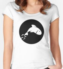 Fish moon Women's Fitted Scoop T-Shirt