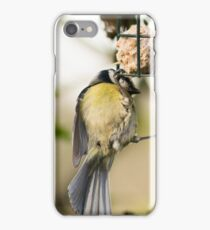 Two tits on a feeder iPhone Case/Skin
