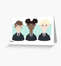 Scorpius Malfoy, Rose Granger-Weasley & Albus Potter  Greeting Card