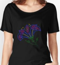 Ink dotted lily - rainbow lined version Women's Relaxed Fit T-Shirt