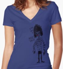 'Ratcat Groupie' Women's Fitted V-Neck T-Shirt