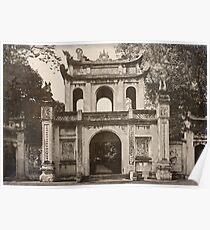 Vietnam - Hanoi - Temple of Literature ... Entry Gate  Poster