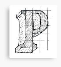 Capital P Canvas Print