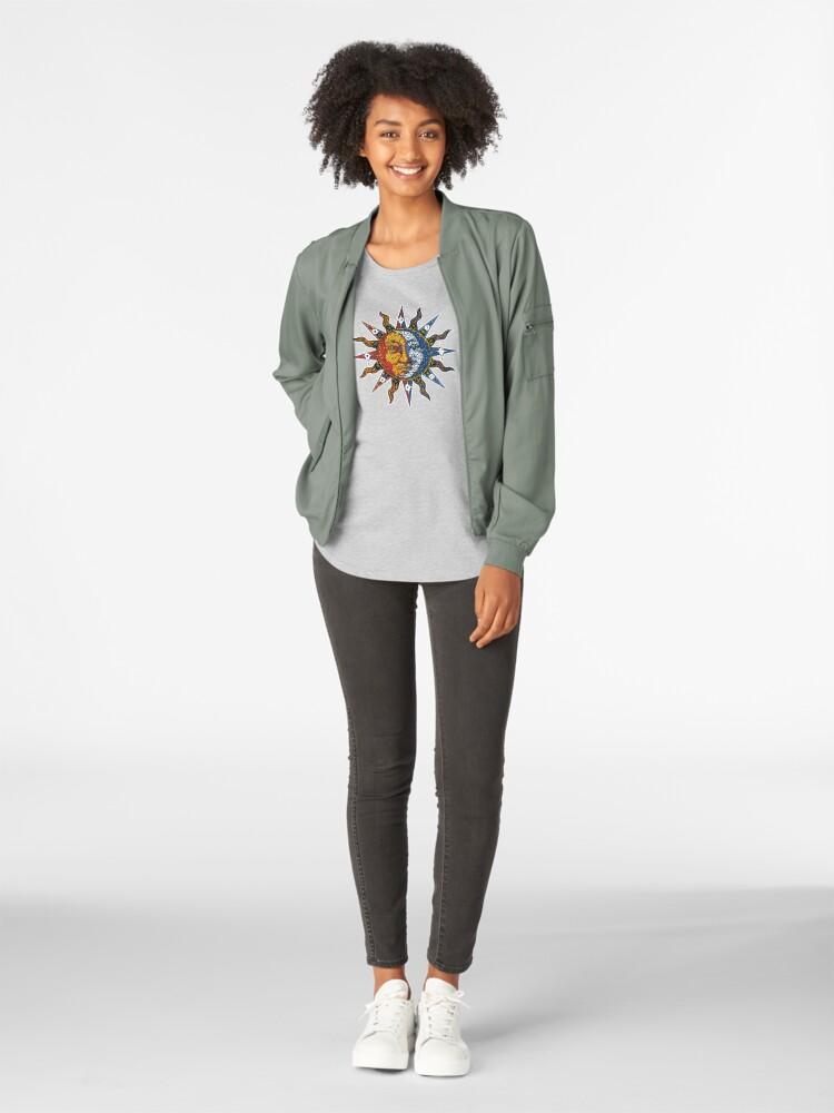 Alternate view of Celestial Mosaic Sun/Moon Premium Scoop T-Shirt
