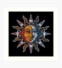Celestial Mosaic Sun/Moon Art Print