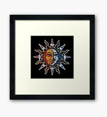 Celestial Mosaic Sun/Moon Framed Print