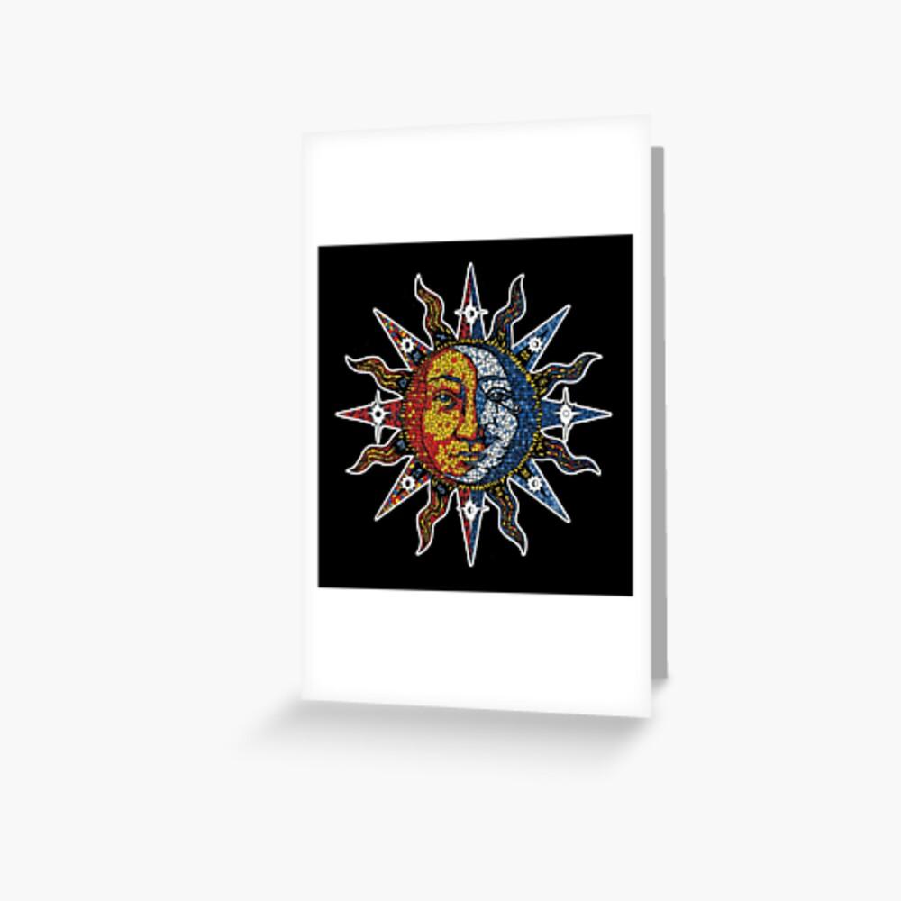Celestial Mosaic Sun/Moon Greeting Card