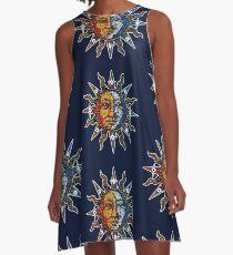 Celestial Mosaic Sun/Moon A-Linien Kleid