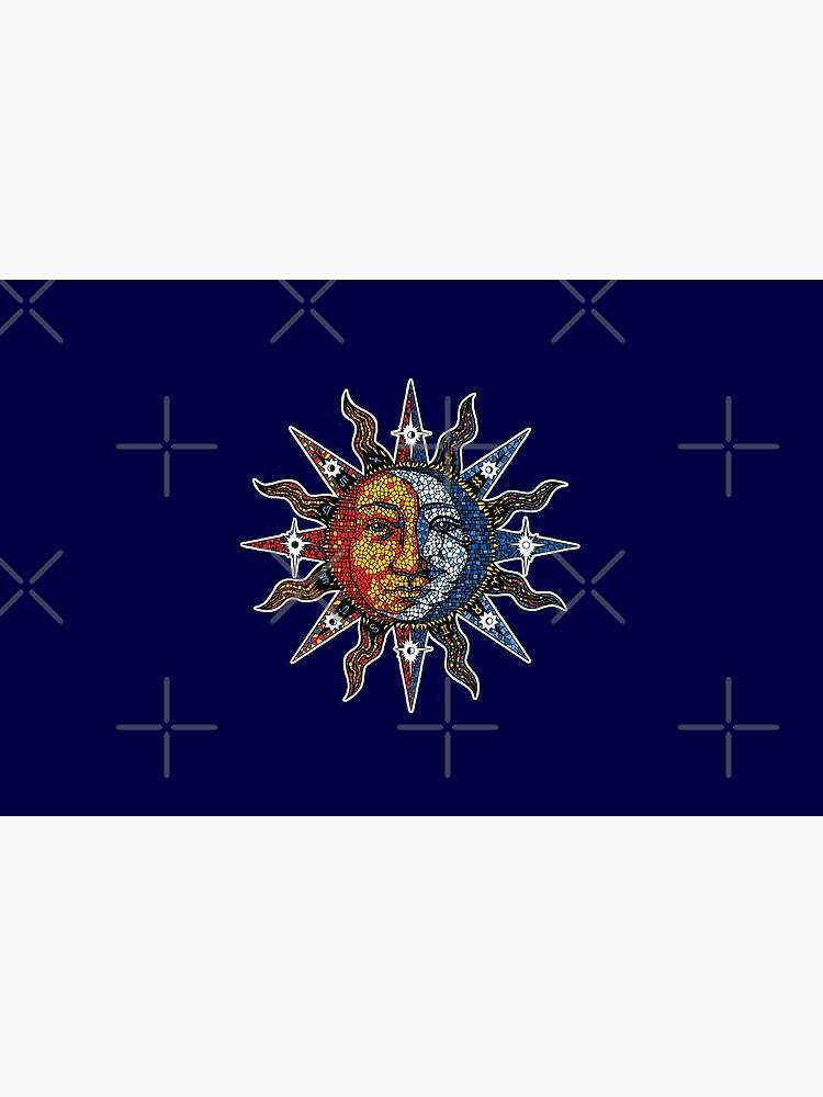 Celestial Mosaic Sun/Moon by sandersart