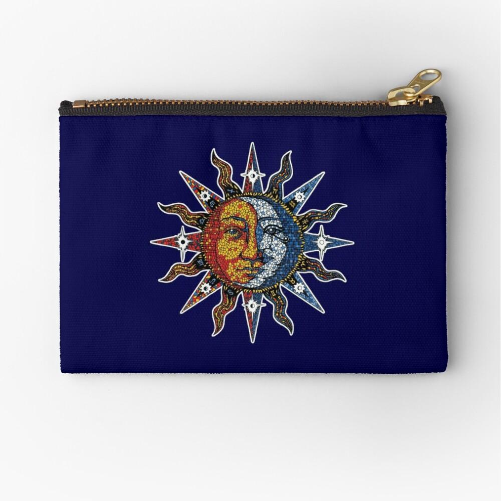 Celestial Mosaic Sun/Moon Zipper Pouch