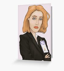 Special Agent Dana Scully Greeting Card