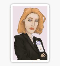 Special Agent Dana Scully Sticker