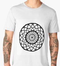 Round graphic, geometric decorative, mandalas or henna design in vector. Men's Premium T-Shirt