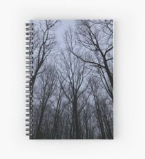 Trees at night Spiral Notebook